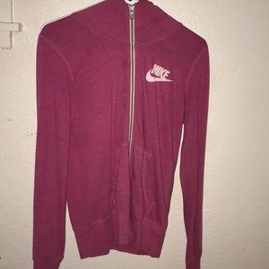 A Nike pink jacket/sweat wear